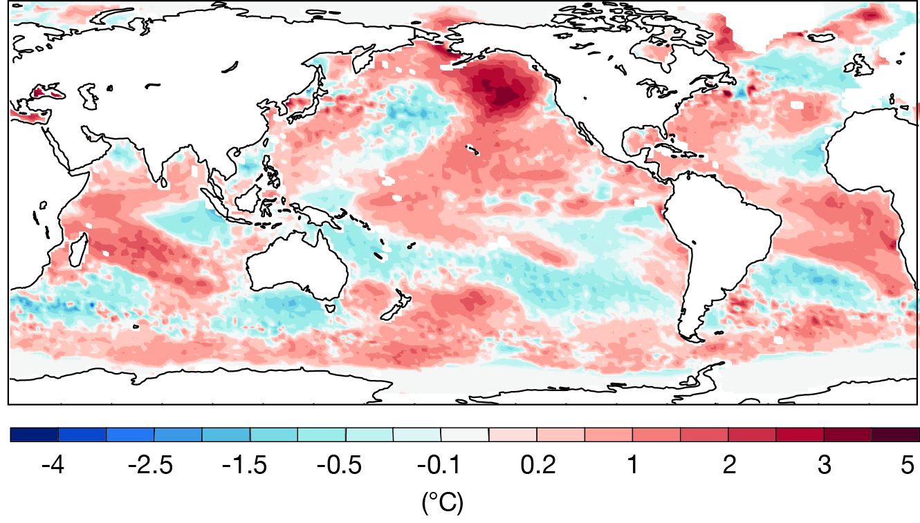 Sea-surface temperature (SST) anomaly November 2019